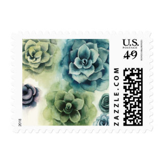 Cluster of Succulents Postage
