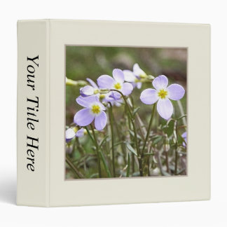 Cluster Of Tiny Bluets 3 Ring Binder