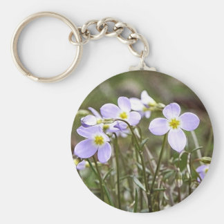 Cluster Of Tiny Bluets Basic Round Button Keychain