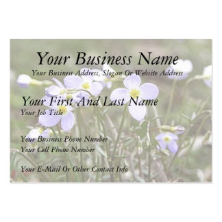 Cluster Of Tiny Bluets Large Business Card