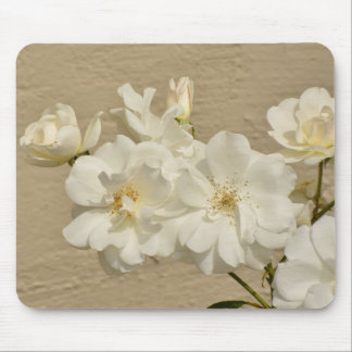 Cluster of White Roses Mouse Pad