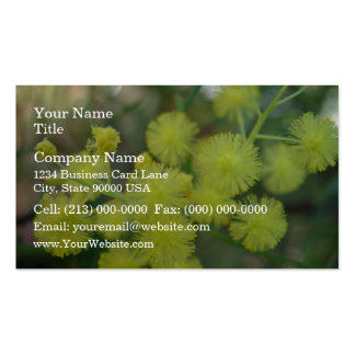 Cluster of Yellow Wattle Flower Double-Sided Standard Business Cards (Pack Of 100)