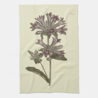 Clustered Bellflower Botanical Illustration Kitchen Towel
