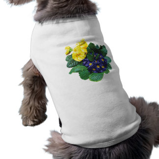 Clusters of Purple and Yellow Primroses Dog Clothing