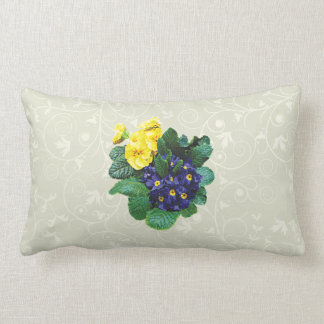 Clusters of Purple and Yellow Primroses Pillows