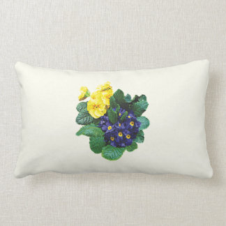 Clusters of Purple and Yellow Primroses Pillow