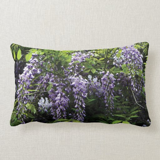 Clusters of Wisteria Pillows