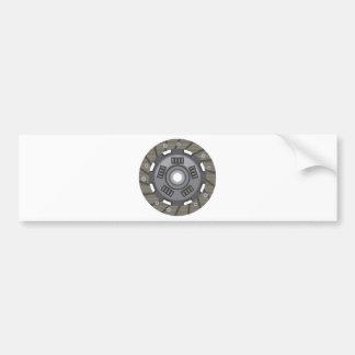 Clutch disc bumper sticker
