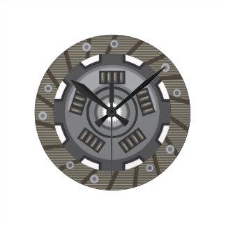 Clutch disc round clock