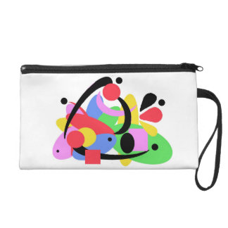 Clutch purse, abstract wristlet purses