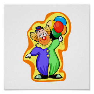 Clute lindo con Baloons Posters
