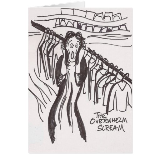 Clutter Scream Greeting Cards