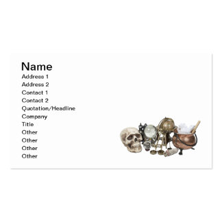 Cluttered Witch Corner Business Card Templates