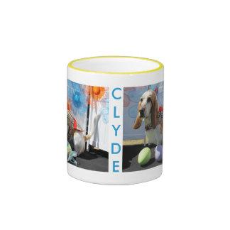 Clyde - Basset Hound -3 Taza De Café