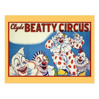 Clyde Beatty Vintage Circus Postcard