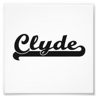 Clyde Classic Retro Name Design Photo Print