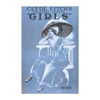 """Clyde Fitch's Greatest Comedy, """"Girls"""" Theatre 2 Canvas Print"""