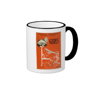"""Clyde Fitch's Greatest Comedy, """"Girls"""" Theatre 2 Coffee Mugs"""