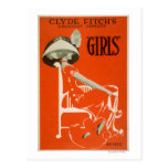"Clyde Fitch's Greatest Comedy, ""Girls"" Theatre 2 Postcard"