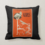 """Clyde Fitch's Greatest Comedy, """"Girls"""" Theatre 2 Throw Pillow"""
