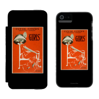 """Clyde Fitch's Greatest Comedy, """"Girls"""" Theatre 2 Wallet Case For iPhone SE/5/5s"""