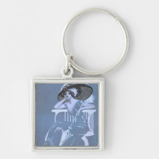 """Clyde Fitch's Greatest Comedy, """"Girls"""" Theatre Keychains"""