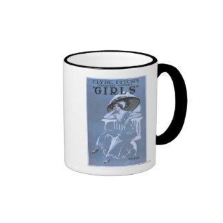 """Clyde Fitch's Greatest Comedy, """"Girls"""" Theatre Mug"""