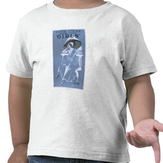 """Clyde Fitch's Greatest Comedy, """"Girls"""" Theatre T Shirt"""