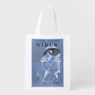 """Clyde Fitch's Greatest Comedy, """"Girls"""" Theatre Market Totes"""
