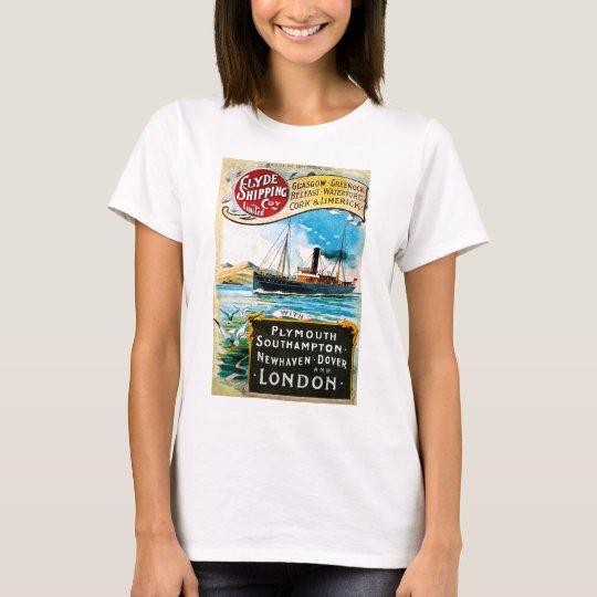 Clyde Shipping Company Vintage Sailing T-Shirt