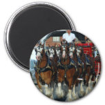 Clydesdale 6 horse hitch fridge magnet