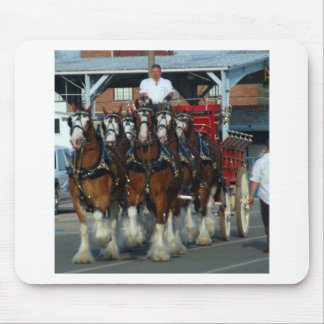Clydesdale 6 horse hitch mouse pad