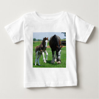 clydesdale and filly baby T-Shirt