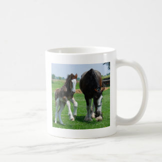 clydesdale and filly coffee mug