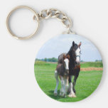 Clydesdale and filly keychain