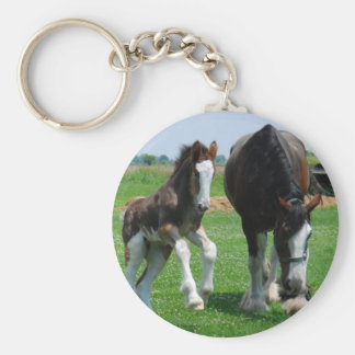 clydesdale and filly key chain