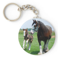 Clydesdale and Filly Keychains
