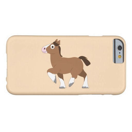 Clydesdale Cartoon Barely There iPhone 6 Case