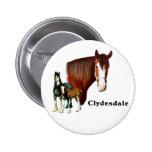 Clydesdale design 2 inch round button
