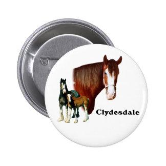 Clydesdale design button