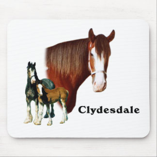 Clydesdale design mouse pad