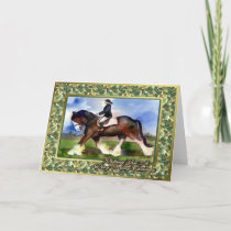 Clydesdale Draft Horse Blank Christmas Card