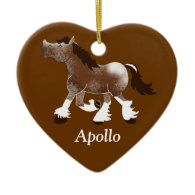 CLYDESDALE Draft Horse Custom Ornament