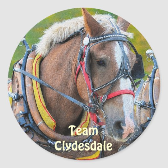 Clydesdale Draft Horse Equine Art Sticker
