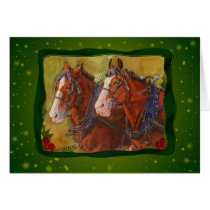 Clydesdale Draft Horse Holiday Card