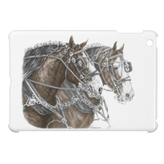Clydesdale Draft Horse Team iPad Mini Case
