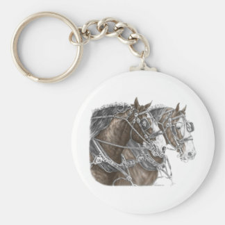 Clydesdale Draft Horse Team Key Chains