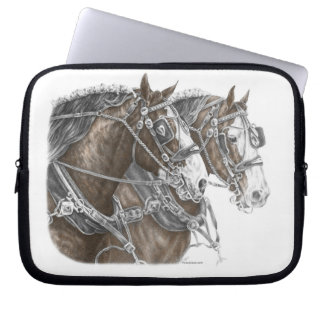 Clydesdale Draft Horse Team Laptop Sleeve