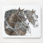 Clydesdale Draft Horse Team Mousepads