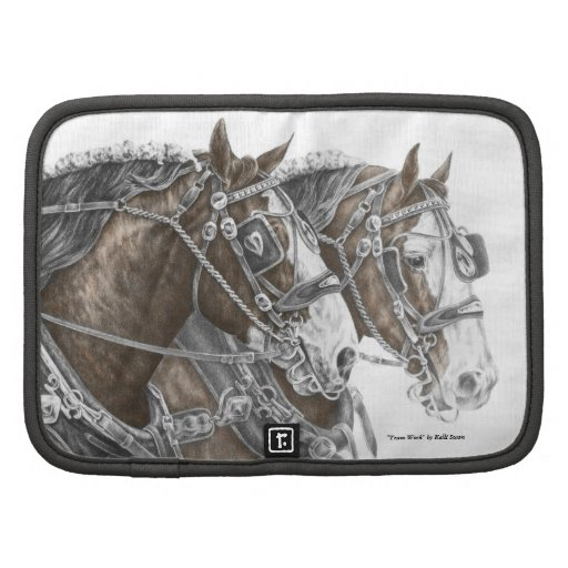 Clydesdale Draft Horse Team Folio Planner